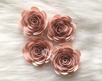 DIY Spiral paper roses, Spiral roses cut outs