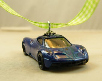 Pagani Huayra   FREE SHIPPING   Anytime Ornament   Blue  Birthday   Fathers  Day