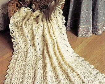 Baby Blanket Pattern - Baby Knitting  - Christening Shawl/Heirloom Afghan - PDF download