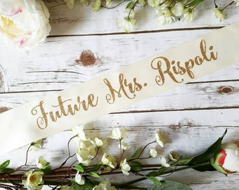 Bride to be sash- bride sash- bachelorette party sash Future Mrs. Sash 3