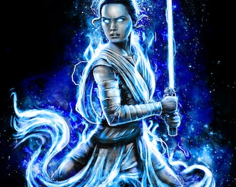 Epic Force Goddess Inspired Painting by JP Perez and Barrett Biggers (KoLabs) Premium Quality Giclee Archival Print