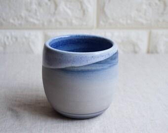 Blue and white marbled ceramic mug, contemporary mug, Ceramic Cup, Ceramic Tumbler, Porcelain Mug, Coffee Mug, interior design (M41)