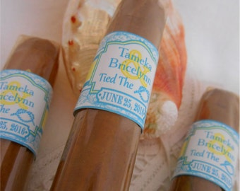 Grooms Proposal Cigar Bands - Groomsman Cigar Bands - Grooms Gift - Wedding Party and Groomsman Cigar Bands - 16 Bands - Tie the Knot