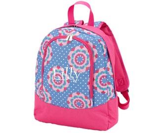 Monogram Floral Zoey Preschool Backpack