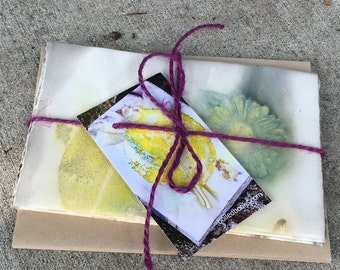 Note Cards with Envelopes - BoiLeD BooKs - ECO PRINT - Assorted Set of 3