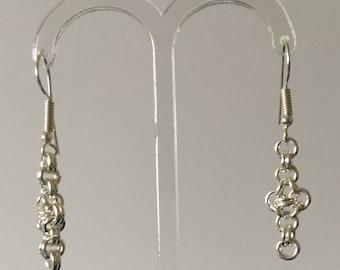 Chain Maille Cross earrings