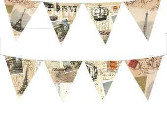Paris Vintage French Bunting
