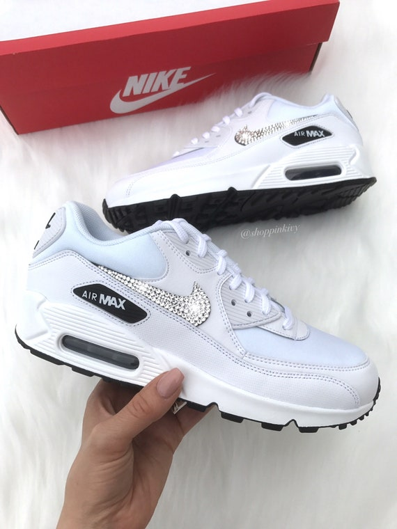 size 40 8525f 01334 ... Swarovski Swarovski Shoes Crystals Blinged 90 Premium With Air Bling  Shoes Out Nike Nike Max rFwBqRr ...