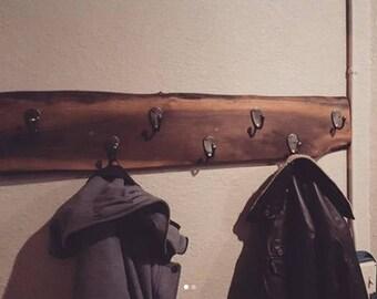 Live Edge Black Walnut Coat Rack