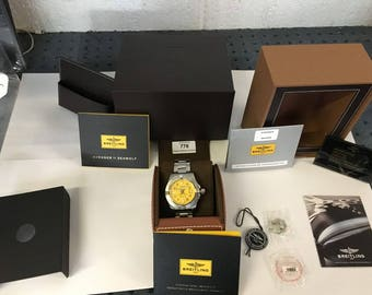 Gents Breitling Avenger 2 Seawolf Chrono watch with breitling box & all papers +++++++
