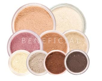 12pc Mineral Makeup Kit - GET STARTED XL - Pure Natural Vegan Minerals Set