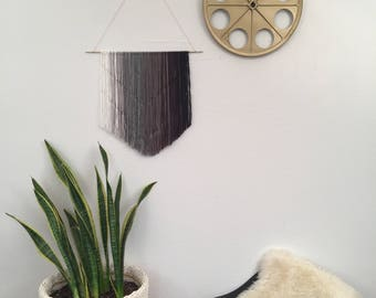 Ombre Black Gradient Knotted Wall Hanging