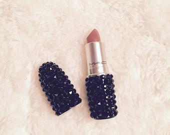 Swarovski Crystal MAC Lipstick Black Crystals