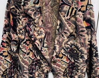 Vintage Silverado Tapestry Crop Jacket Women Blazer S