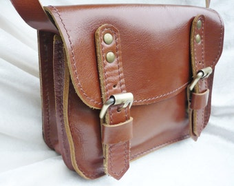 Small Leather Cross Body Bag, Shoulder Bag, Leather Bag Purse, Leather Satchel