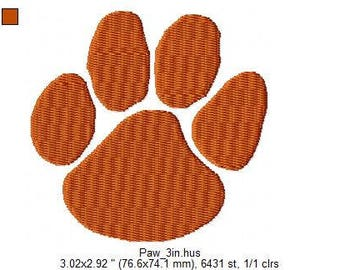 Embroidered Paw Print