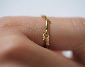 Thin Gold Stacking Ring, Sterling Silver Branch Ring, Nature Ring Silver, Branch Gold Ring, Branch Ring Rose Gold, Branch Ring Gold, Ring
