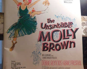 The Unsinkable Molly Brown Music Book Musicand Lyrics 1960 Book Titanic survivor