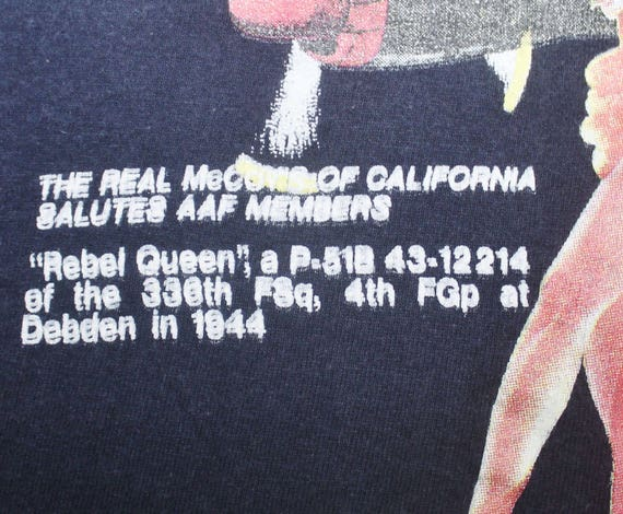 VINTAGE t air queen buzz aff THE shirt force rebel REAL rickson McCOYS g6gZaqw