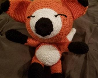 Hand crochet Fox