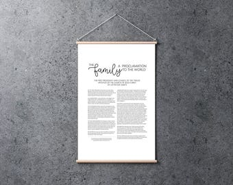 Family Proclamation | Poster 24x36 | Digital Print | Instant Download | Inspirational | LDS