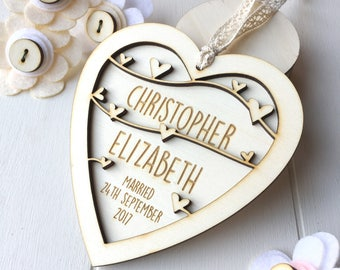 Wedding Day keepsake - Anniversary keepsake - Keepsake heart - Wedding gift - Couples gift