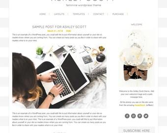 Ashley Scott WordPress Theme, WordPress Theme, Gold, Responsive WordPress Theme, Blog Design, WordPress Blog Design, WordPress Template