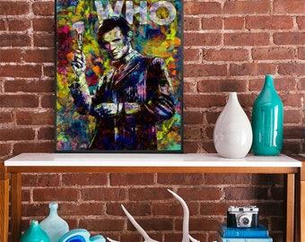 Dr Who Matt SMith 11th Doctir colour art poster movie poster