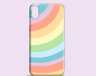 Pastell Rainbow X Gehäuse / iPhone 8 / 7 Plus Fall / Pastell und iPhone 7 / iPhone 6 s Fall / Aussage iPhone 6 / Fett iPhone 5/5 s Fall