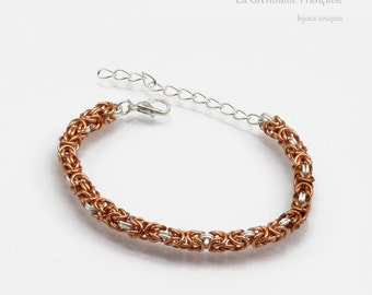 Chainmail // bracelet // copper