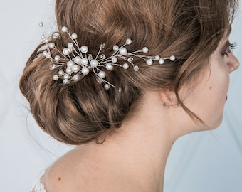 Ivory bridal hair comb, wedding headpiece, wedding hairpiece, decorative comb bridal accessory