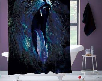 Roaring Lion Shower Curtain