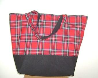 Tote Bag Tartan  Royal Stewart