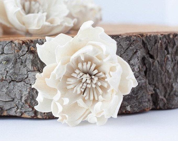 Hydrangea Sola Flowers - Set of 5 , Sola Flowers, Wood Sola Flowers, Balsa Wood Flowers, Craft Flowers, sola wood flowers