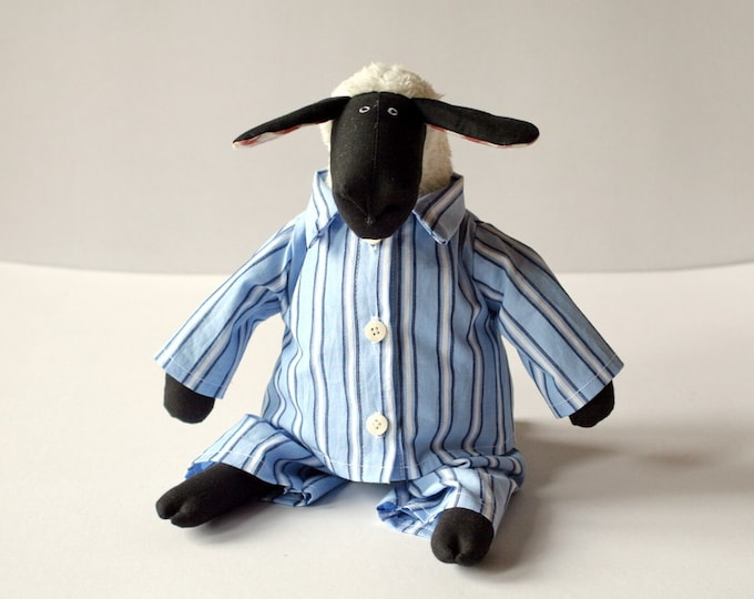 Grandpa Sheep, stuffed animal toy for children, Dressed Plush Toy, Soft Toy in Pajamas