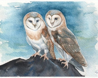 Two of a Kind - Print of Original Watercolor Painting