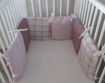 Pink bed pillow for bed baby striped pattern