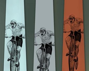 Bicycle Tie - Bike Gift - Old Time Cyclist - Neck Tie - Men's Necktie