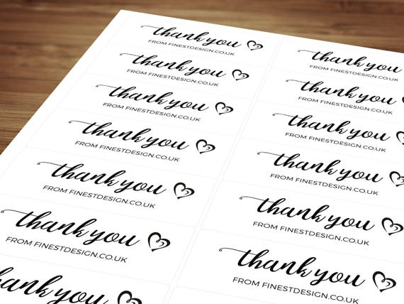 Personalised order thank you stickers labels compliment