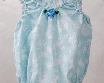 Sassy Sun Suit (Blue Floral)