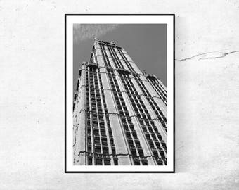 WOOLWORTH building New York City architecture black white black and white photography photography modern poster 45 x 30 + 60 x 40 cm