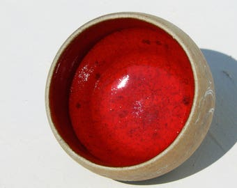 White stoneware carved Yunomi ochoko/ saké cup woodfired