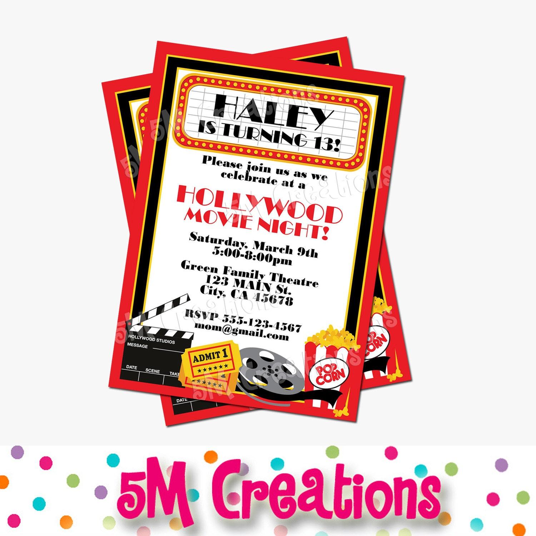 movie birthday party invitations printable free - Romeo.landinez.co