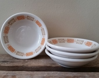 Mid Century Modern Bowls Shenango China Berry Bowls Set of 4 Vintage Shenango Restaurant Ware Multi Use Small Bowls