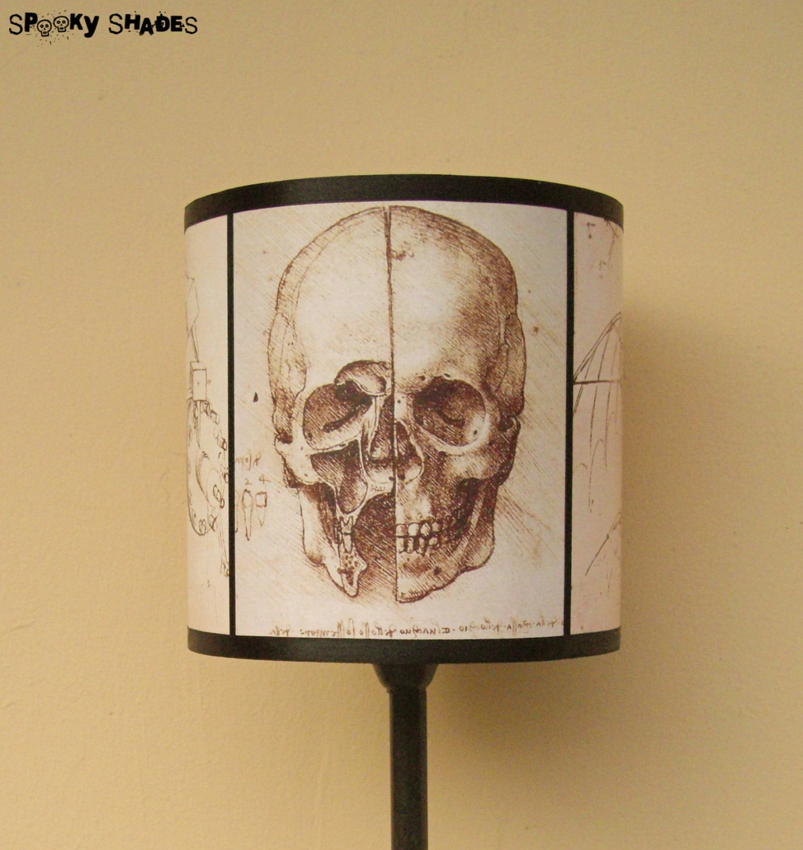 Leonardo da vinci skull drum lamp shade lampshade by spooky zoom aloadofball Image collections