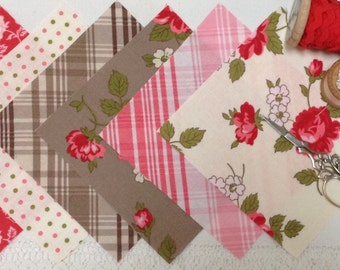 Pirouette by Verna Mosquera for Freespirit, 21 X 5 inch fabric squares
