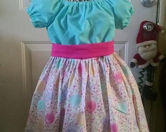 Girls Easter Dress, childrens clothing, girls dress, girls clothing, girls Spring dress, sizes 2T, 3T, 4T, 5, 6, 7, 8, 10, 12