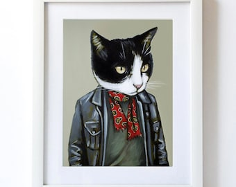 Mr.Mooch - Matte Print - From Painting by Heather Mattoon