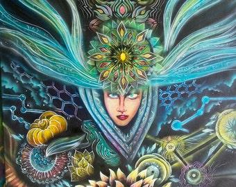 Muse - Original Visionary Art Acrylic Painting