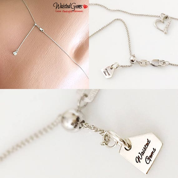 14k White Gold Size Adjustable Waist Chain, Gold Waist Beads, White Gold Belly Chain, Gifts for Her, Wheat Chain